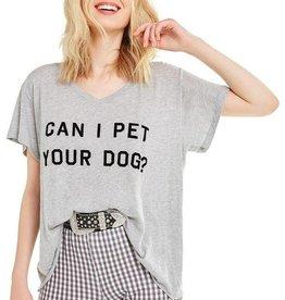 Wildfox Can I Pet Your Dog? Romeo V-Neck Tee