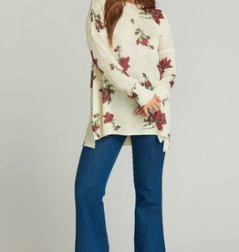 Show Me Your Mumu Bonfire Sweater - Winter Rose Shimmer Knit