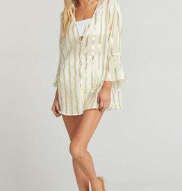 Show Me Your Mumu Mercer Tunic - South Beach Stripe Gold
