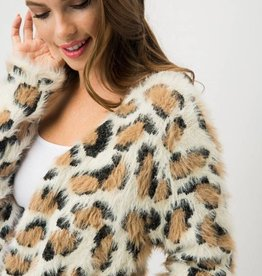 LABEL Animal Open Front Cardigan