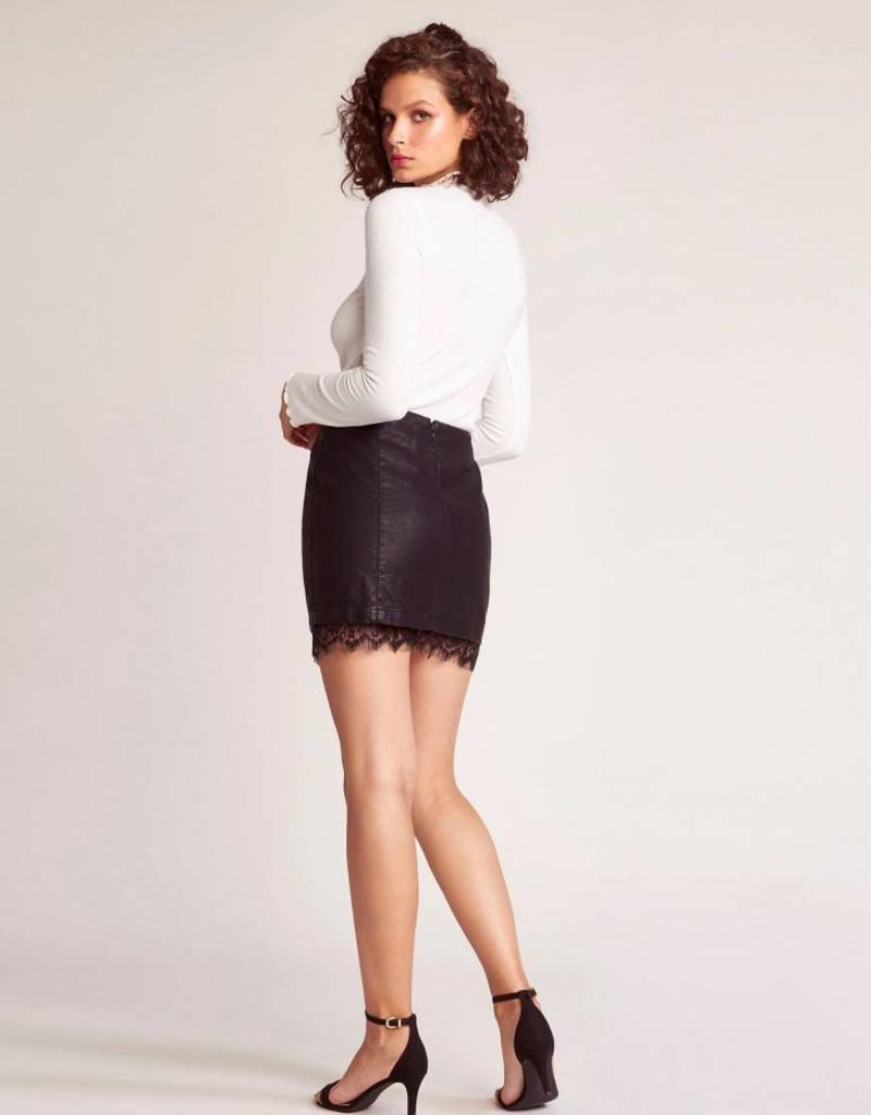 Jack by BB Dakota Waiting For Tonight Vegan Leather Skirt