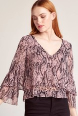 BB Dakota Raise The Snakes Snake Print Top
