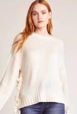 BB Dakota All Tied Up Lace Up Sweater
