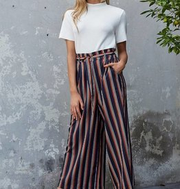 Minkpink Stripe Cropped Trousers