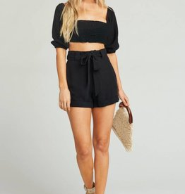 Show Me Your Mumu Hadley Shorts - Black Linen