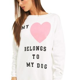 Wildfox My Heart to My Dog Roadtrip Sweater