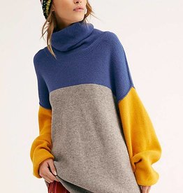Free People Softly Structured Color-Blocked Sweater