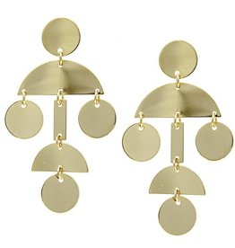 LABEL Geometric Metal Drop Earrings