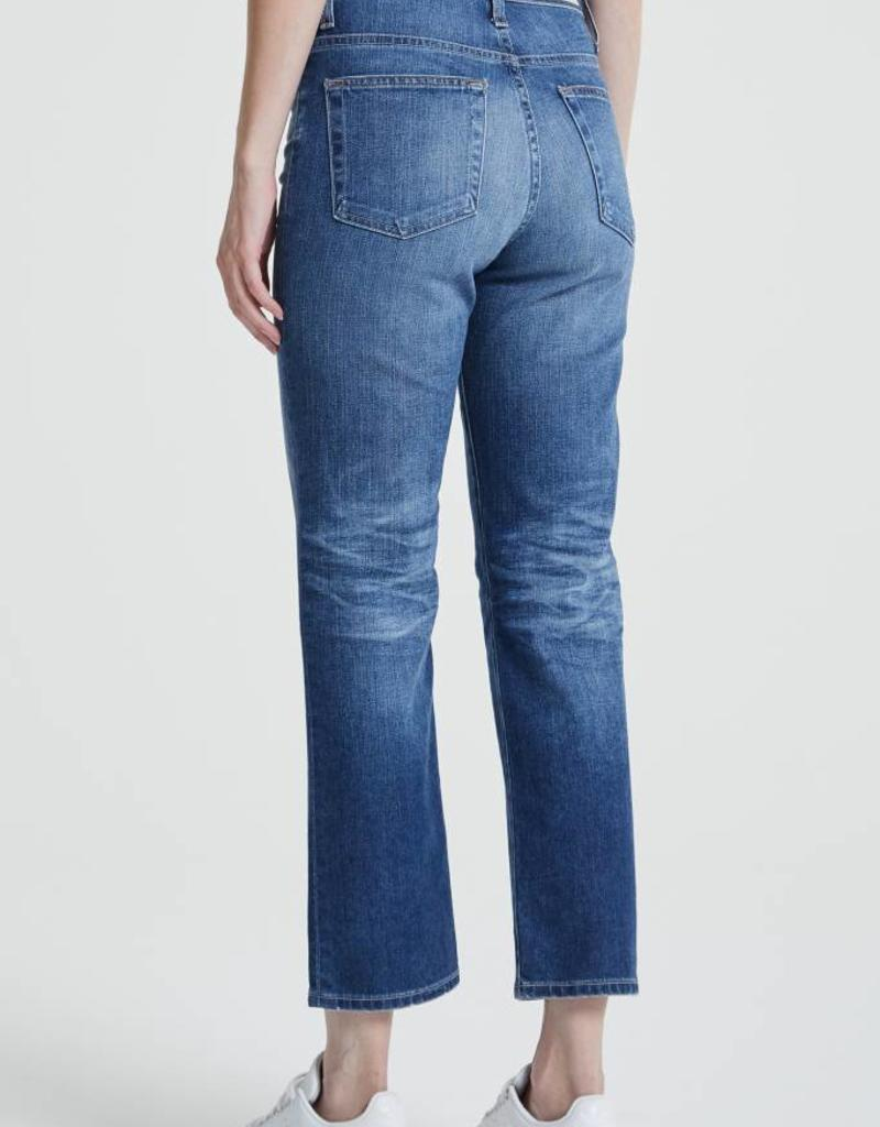 AG Jeans Isabelle High Rise Straight Crop - 11 Years Fortitude