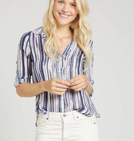 Bella Dahl Button Down Shirt - Navy Blue