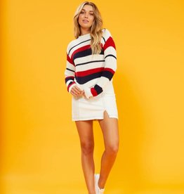 Minkpink Stripe Knit Sweater
