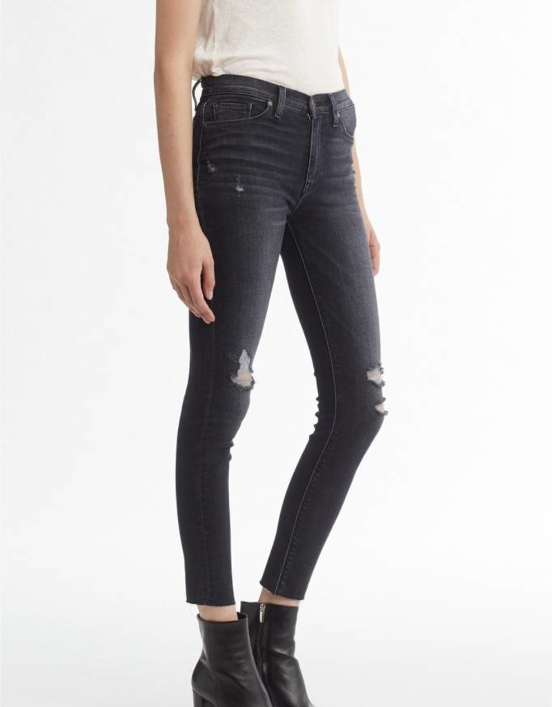 Hudson Barbara High Rise Super Skinny Ankle Jean Worn Kona