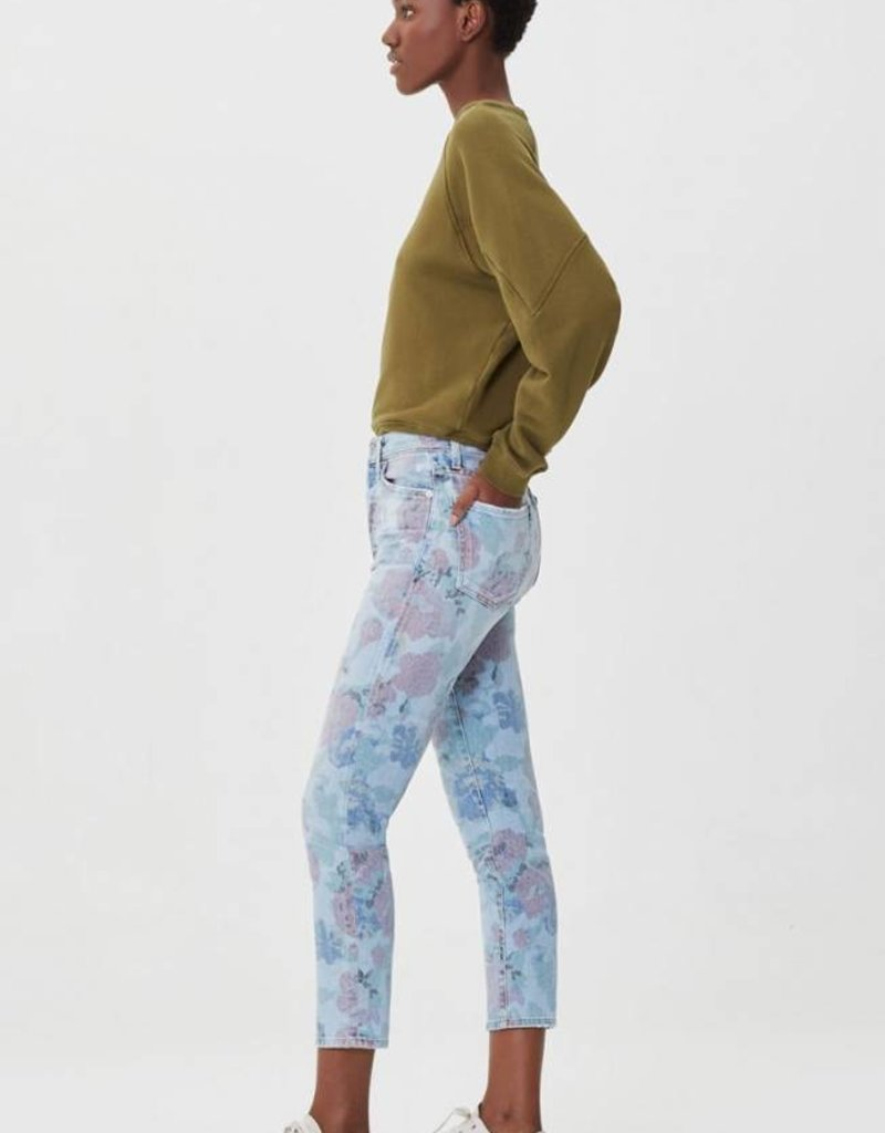 Citizens of Humanity Olivia Crop High Rise Slim in Bouquet