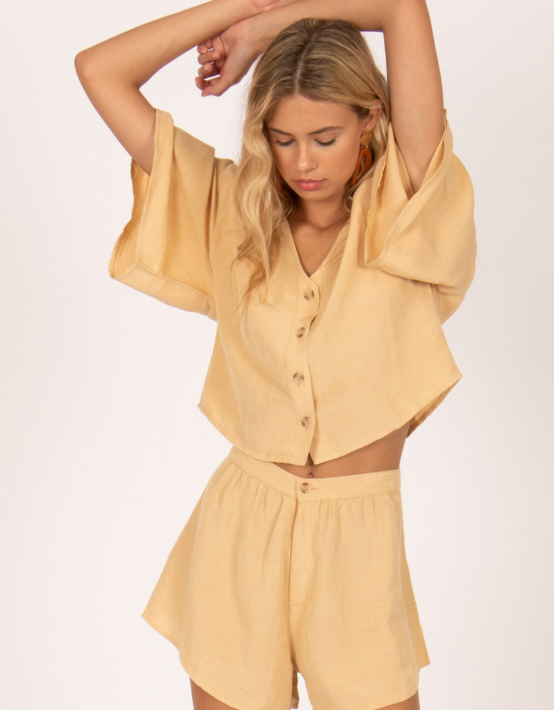 Amuse Society Bungalow Woven Top