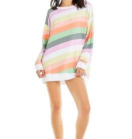Wildfox Sorbet Stripes Roadtrip Sweater