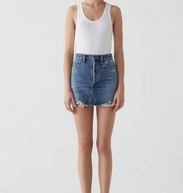 AGOLDE Quinn Hi Rise Mini Skirt in Ransom