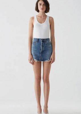 AGOLDE Quinn Hi Rise Mini Skirt in Ransom