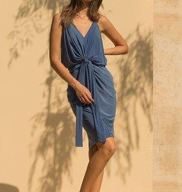 Misa Domino Midi Dress