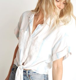 Bella Dahl Cap Sleeve Tie-Up Shirt