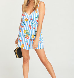 Show Me Your Mumu Addison Romper ~ Fruit Basket Stripe Poplin
