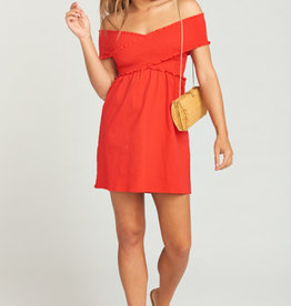 Show Me Your Mumu Mandy Smocked Dress ~ Cherry Poplin