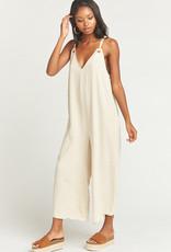 Show Me Your Mumu  Jansen Jumpsuit ~ Cream Linen