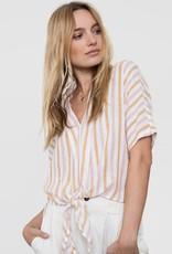 Rails June Top - Amber Stripe