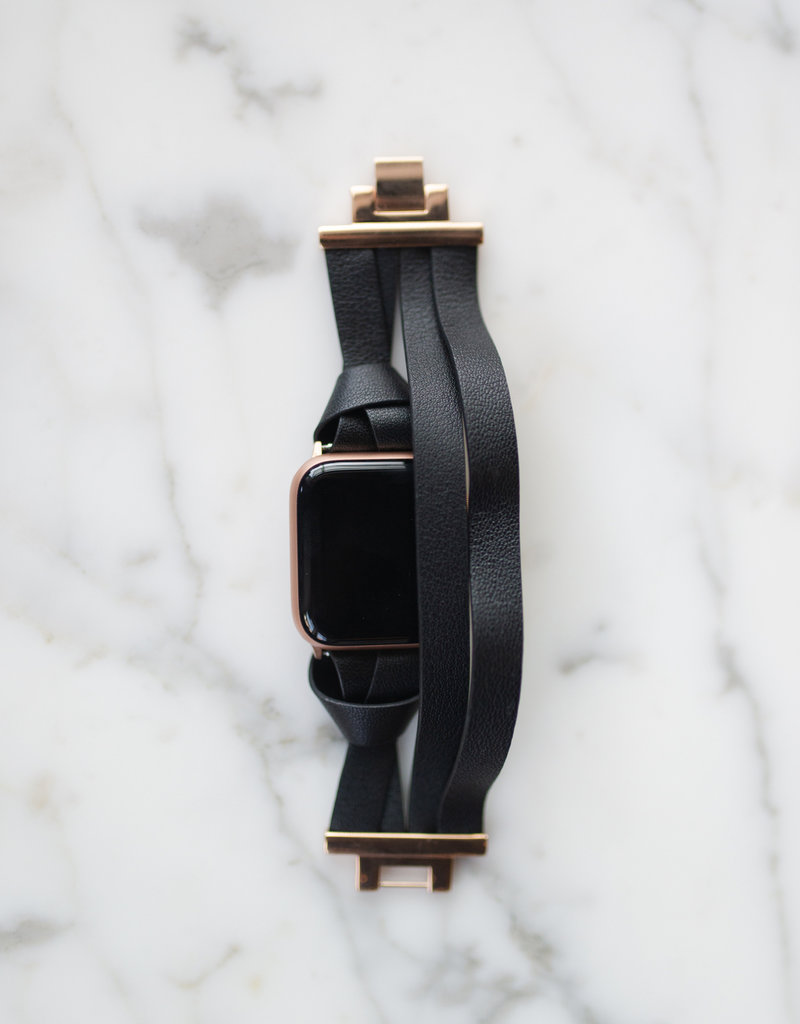 LABEL Leather Wrap Apple Watch Band