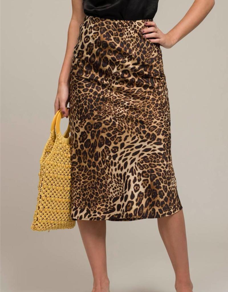 Moon River Long Skirt Leopard