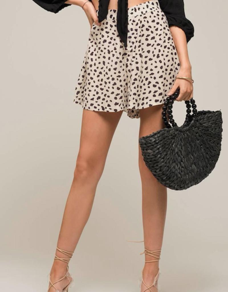 Moon River Leopard Print Shorts