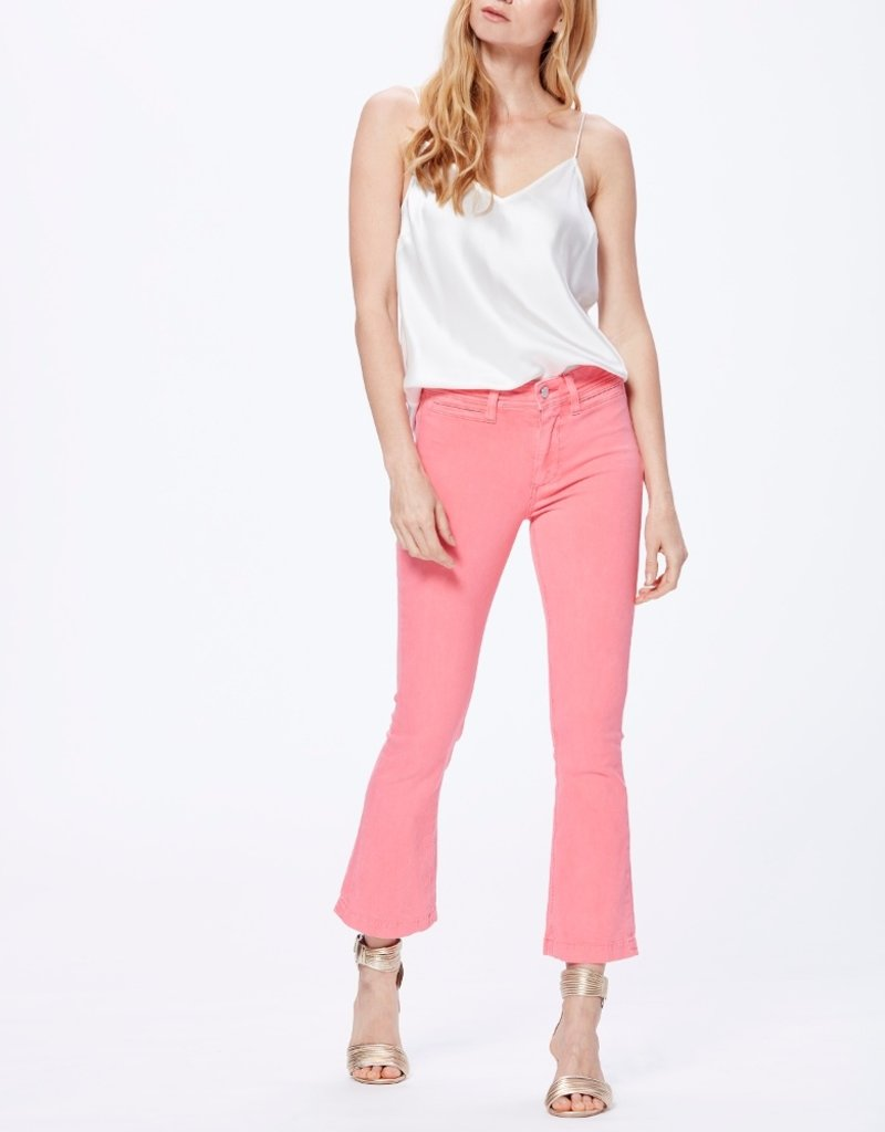 Paige Colette Crop Flare - Faded Pink Valentine