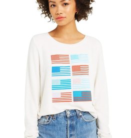 Wildfox Pop Americana Baggy Beach Jumper