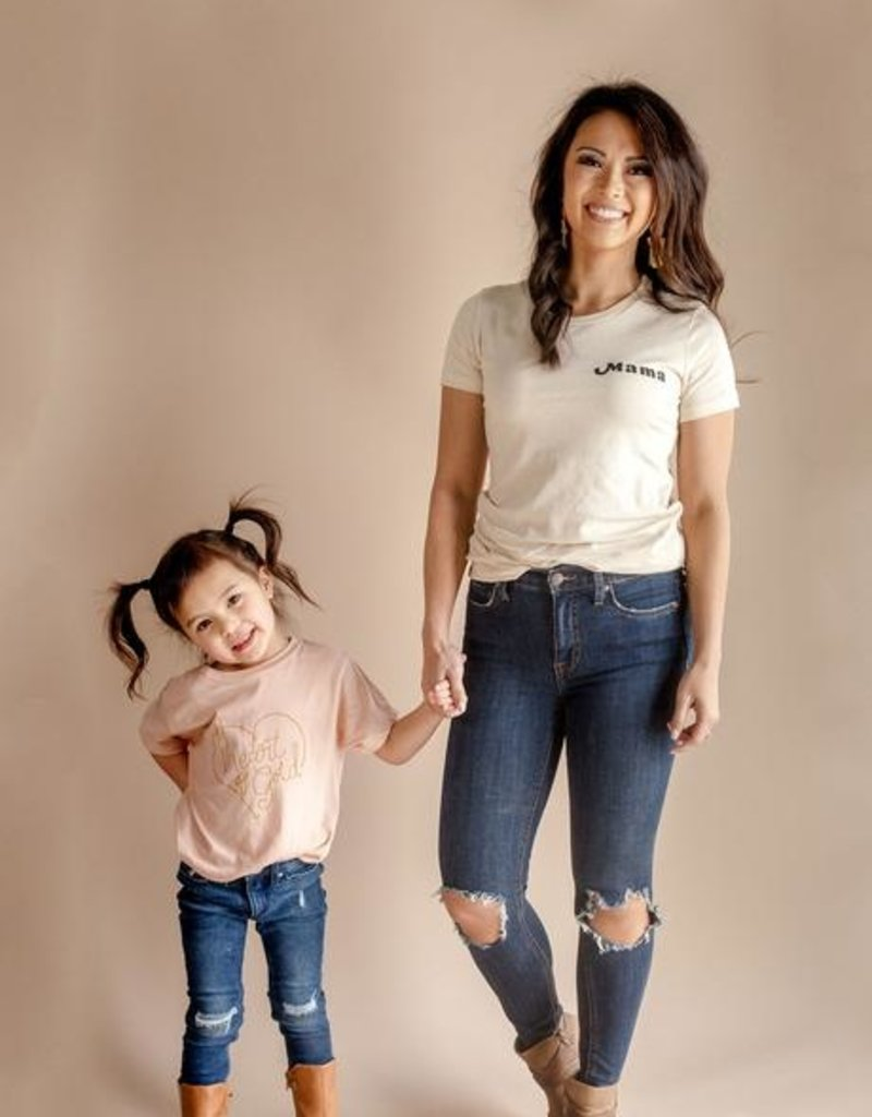 Polished Prints Mama Fitted Crew Neck Tee
