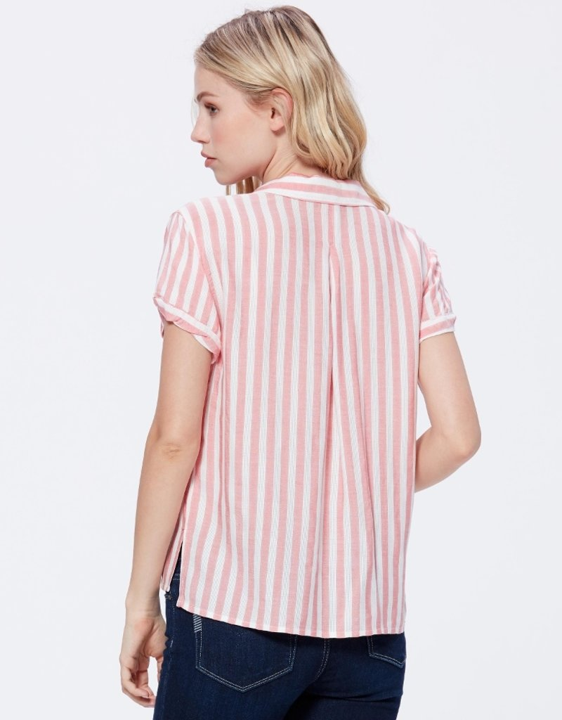 Paige Colwyn Shirt - Watermelon Cove Stripe