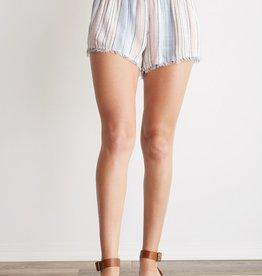 Bella Dahl Fray Hem Short - Ombre Horizon Stripe