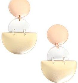 LABEL Metallic Drop Earrings
