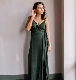 Misa Veronika Tie Wrap Cami Maxi Dress