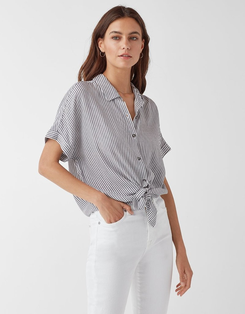 Label Canyon Short Sleeve Stripe Button Up Shirt Label