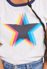 Wildfox Triple Star Johnny Ringer Tee