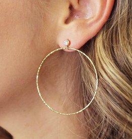 Joy Dravecky Fine CZ Hoop Earring