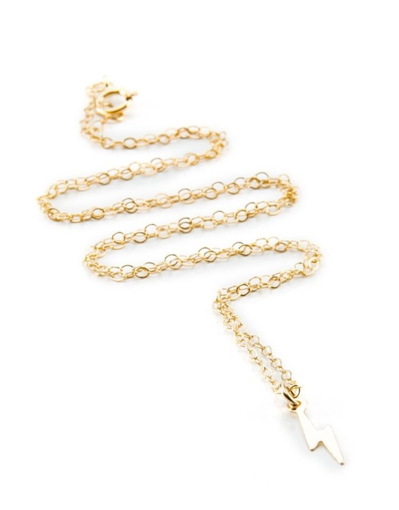 Joy Dravecky Lightning Bolt Charm Necklace