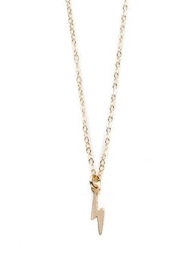 Joy Dravecky Lightning Bolt Charm Necklace