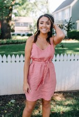 Bella Dahl Belted Smocked Back Dress