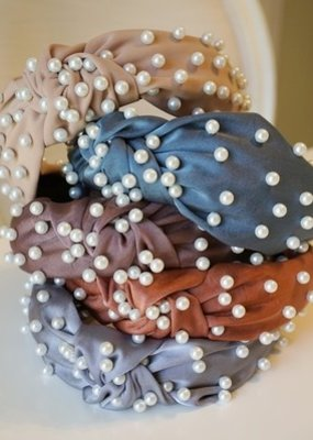 LABEL Silk Pearl Top Knot Headband