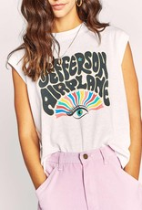 Daydreamer  Jefferson Airplane Rainbow Drop Shoulder Tee