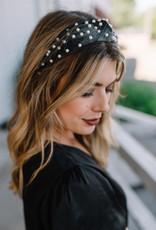 LABEL Velvet Pearl Top Knot Headband