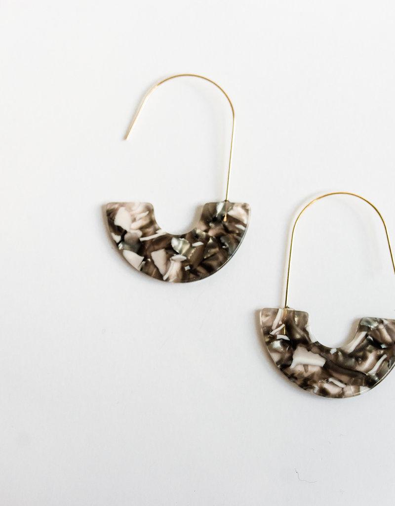 LABEL Resin Drop Earrings