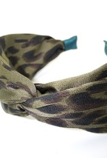 LABEL Top Knotted Leopard Headband