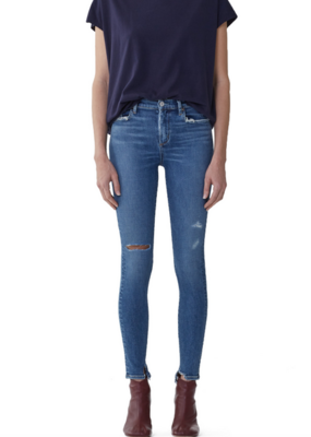 AGOLDE Sophie Mid Rise Skinny Ankle - Pentacle