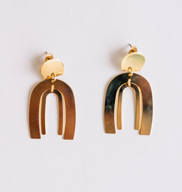 Wanderlust + Co. Spectrum Arc Earrings